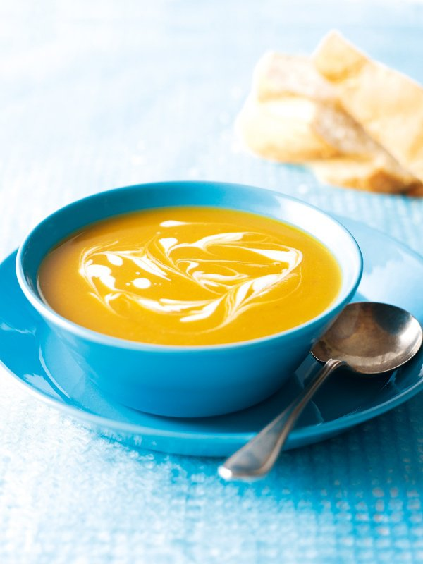 Butternut and sweet potato soup