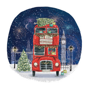 London Bus Christmas Charity Greeting Cards 10 Pack £3.99