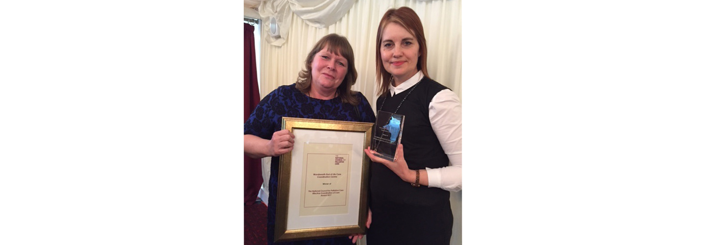 Wandsworth End of Life Care Coordination Centre wins NCPC Award