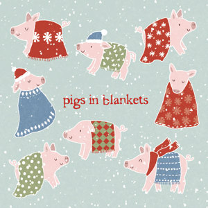 Pigs In Blankets Christmas Charity Greeting Cards 10 £3.99
