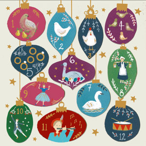 Twelve Days Of Christmas Charity Christmas Cards 10 Pack £3.99