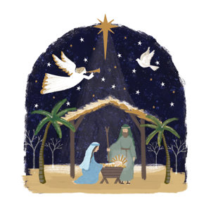Manger Scene Christmas Charity Greeting Cards 10 Pack £3.99