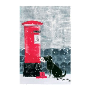 Dog And Postbox Christmas Charity Greeting Cards 10 Pack £3.99