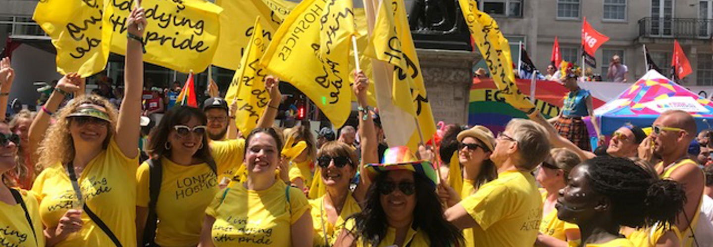 Trinity marches at Pride in London