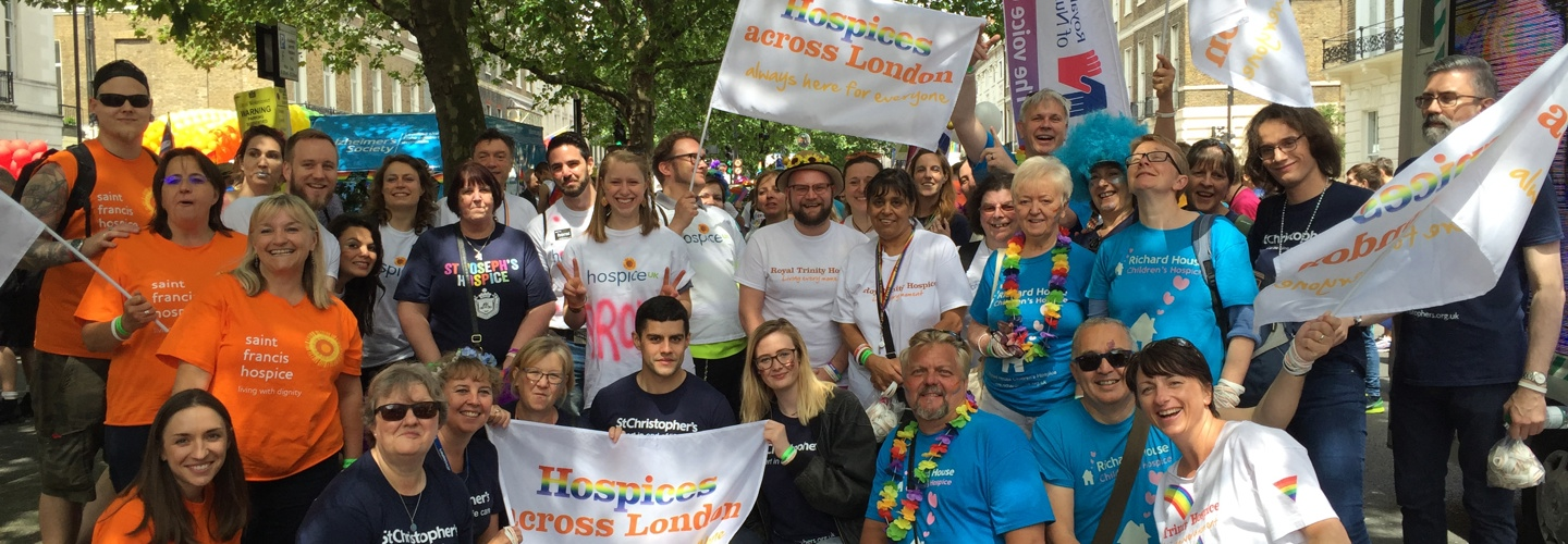 Hospices across London march in Pride for the first time